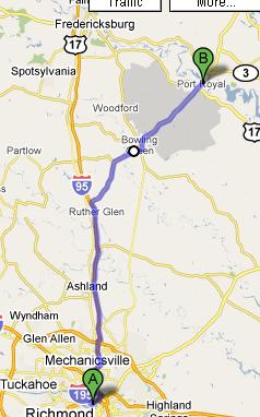 Richmond to Port Royal