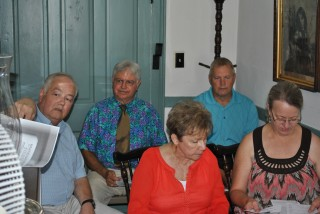 Choir in corner of Parish House July 1, 2012