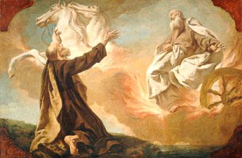 Elijah ascending to heaven