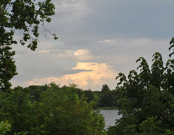 Storm Clouds Along the River, July 16, 2012