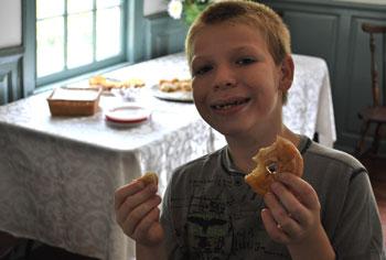 Tucker with glaze donuts