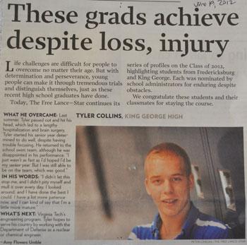 Tyler Collins, Free Lance-Star June 19, 2012