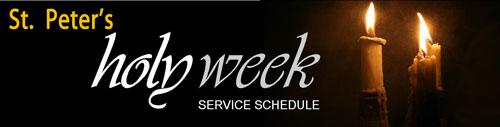 Holy Week, 2013