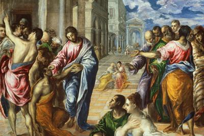 Healing the Blind Man - El Greco