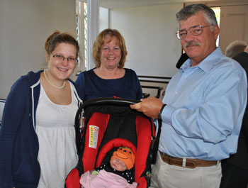 Dobsons with new grandchild